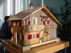 Farmhouse dollhouse with step by step pictures