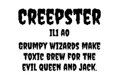 Free Creepster font by Sideshow Spooky Font, Spooky Scary, Creepy, Kid Fonts, Scary Monsters, Google Fonts, Sideshow, Projects For Kids, Typography