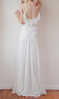 Romantic Flowey Bohemian Vintage style wedding by Graceloveslace, $928.00