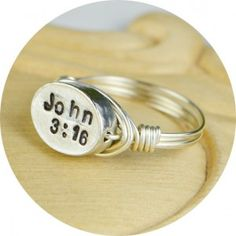 Bible Verse Ring - Hand stamped with your choice of Bible Verse! So cool! #ProjectInspired #Fashion #Christian