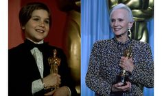 The most senior and junior stars Tatum O'Neal is the youngest person ever to win an Oscar. Aged ten, she was recognised for her performance in Paper Moon opposite her father, Ryan O'Neal.  At 80, Jessica Tandy became the oldest winner of the Academy Award for Best Actress for her iconic role in Driving Miss Daisy.  Photo: © Getty Images