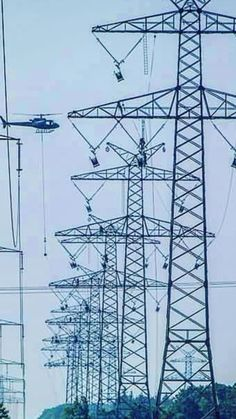 Linemen in Germany Transmission Tower, High Tension, Lineman, Utility Pole, Germany, Steel, Life, Towers, White People