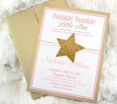 Twinke Twinkle Little Star Gold Baby Shower by mimsysnest on Etsy
