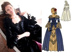 Bodice, Peplum, Costumes, Patterns, Gallery, Lace, Skirts, Sleeves, Block Prints