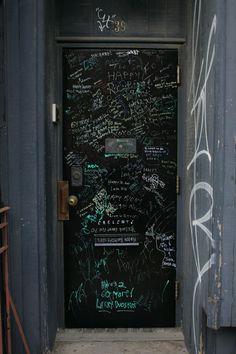 Door Inspiration : Black Graffiti