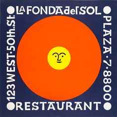 Alexander Girard, Supper Menu for La Fonda del Sol Restaurant, New York, ca. 1960
