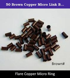 50 Brown Copper Micro Link Bead Link Tubes for I Tip Hair Extensions. A video review is attached to this listing. Please click at the top under the title of this order. You will then see an exact look of how this product looks against a quarter. Thank you for watching. Usually ships within days from MyLuxury1st.