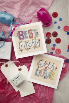 Stitch a greeting with using Angela Poole's funky typographic card designs from the 231 issue of CSC: http://www.myfavouritemagazines.co.uk/stitch-craft/cross-stitch-collection-magazine-back-issues/cross-stitch-collection-january-14/
