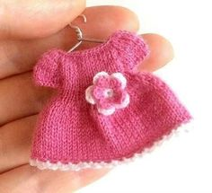 Miniature pink dress/Dollhouse clothing, dress for doll/Playscale, miniature doll clothes by AnnaToys on Etsy Sewing Doll Clothes, Crochet Doll Clothes, Sewing Dolls, Crochet Art, Crochet Patterns, Minis, Tiny Dolls, Barbie Friends, Doll Shoes