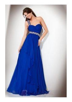 One Shoulder Chiffon Sweetheart Prom Dress in Jova Style P1692 Prom Dress