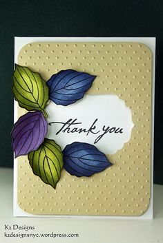 "Simple Leaves ""Thank-You"" Card"