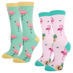 6 Pairs Cute Animal Cartoon Socks One Size BSSN Kids Girls Knee High Socks