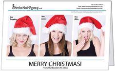 Christmas card images for Mentor Model Agency taken by Model Mentor