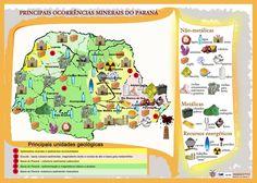 Principais ocorrências de minerais no Paraná. Mineropar.