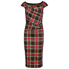 Buy Jolie Moi Tartan Print Ruched Dress Online at johnlewis.com