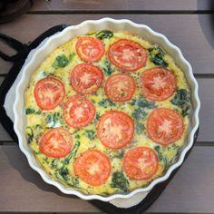 Spinach Tomato Fritatta Recipe