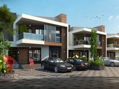 Powered by priceless domain expertise and extensive experience in architecture and architectural design, we constantly stay focused on the next big idea that will propel your business to the limelight. Row House Design, Duplex Design, Bungalow House Design, Duplex House, Villa Design, Townhouse Exterior, Minimalist Apartment, House Elevation, Facade House