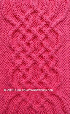 Cable Knitting Stitches » Cable Patterns» Cable Knot 1