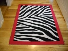 Girls Bedroom Decor Black White Zebra Stripe Throw Rug with Hot Pink Trim  Teen Room: Home u0026 Kitchen