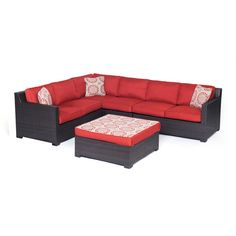 Hanover Metropolitan 5pc Seating Set (Loveseat, chair, ottoman, corner chair)
