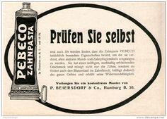 Original-Werbung/Inserat/ Anzeige 1911 - PEBECO ZAHNCREME / BEIERSDORF- ca. 180 x 120 mm
