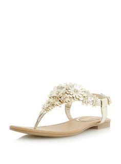 Head Over Heels Nolina Flower Detail Sandal