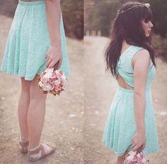 Lace Blue Cutout Dress | Stylebiter.com