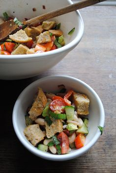 A Panzanella - In the Light of Day: Chopped Tusanesque Salad