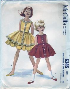 Vintage 1962 McCall's 6345 UNCUT Sewing by SewUniqueClassique, $10.00