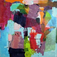 """Saatchi Art is pleased to offer the painting, """"Collage 16-01,"""" by Linda Coppens, available for purchase at $630 USD. Original Painting: Acrylic, Ink, Paper, Paint, Pastel on Canvas, Paper. Size is 19.7 H x 19.7 W x 0.8 in. Canvas Collage, Painting Collage, Collage Art, Canvas Art, Collages, Colorful Paintings, Contemporary Paintings, Abstract Expressionism, Abstract Art"""