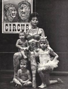 Tattooed Family,1955. I have no words. Just stunned.