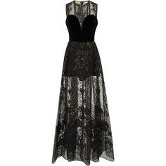 Elie Saab Velvet Strapless Embellished Dress (65,565 GTQ) ❤ liked on Polyvore featuring dresses, black, sweetheart neck dress, sweetheart neckline cocktail dress, strapless dresses, embroidery dresses and elie saab