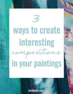 3 ways to create interesting compositions in your paintings Acrylic Painting Tutorials, Acrylic Painting Techniques, Painting Tips, Watercolour Tutorials, Art Techniques, Watercolor Techniques, Learn Art, Watercolor Paintings, Watercolours