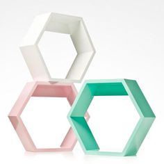 A fun and creative way to add a little extra storage space to your little ones room, the Millie Hexagon shelf will create the look you've been waiting for. In bright, modern colours these units are playful and vibrant, the perfect touch of youthful style.