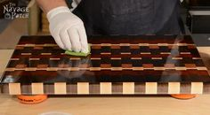 Story of A Board: End-Grain Cutting Board Tutorial and Plans | Woodworking & diy | Free plans | Handmade cutting board | Food safe varnish | How to make a cutting board | #Tutorial for #Handmade #Endgrain #Cuttingboard using #exoticwood | #Woodworking & #diy with #freeplans | TheNavagePatch.com