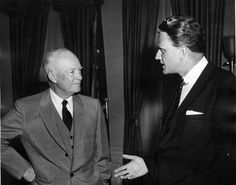 President Dwight Eisenhower with Rev. Billy Graham, 05/10/1957.