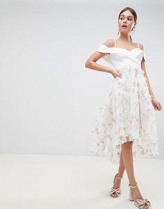 ASOS | ASOS DESIGN premium 3d floral prom dress