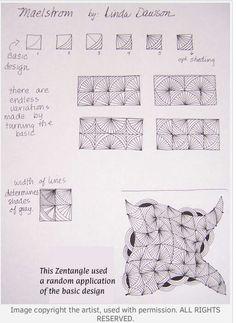 Maelstrom tangle pattern