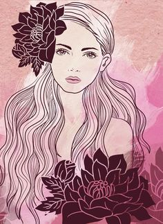 Tropical Girl Art Print....Have a beautiful day!!! :)