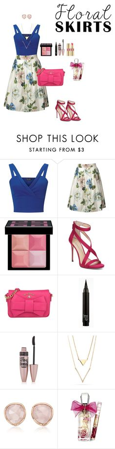 """Fresh Summer #pink #brunch #lunch #date"" by clauxsanchex ❤ liked on Polyvore featuring Miss Selfridge, Givenchy, Imagine by Vince Camuto, Vivienne Westwood, Maybelline, Monica Vinader, Juicy Couture, Yves Saint Laurent and Floralskirts"