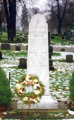 Sojourner Truth.  Abolitionist and Social Reformer.  Oak Hill Cemetery, Battle Creek, Michigan
