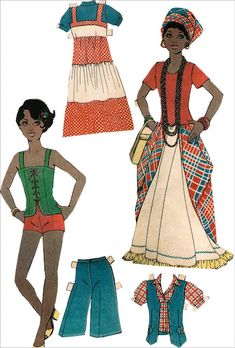 1971-6*1500 free paper dolls for Christmas at artist Arielle Gabriels The International Paper Doll Society and also free Asian paper dolls at The China Adventures of Arielle Gabriel *