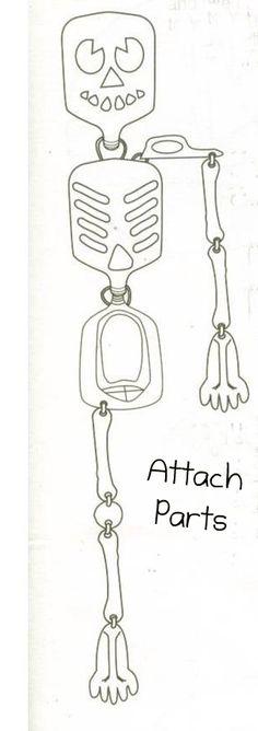 Milk Jug Skeleton Parts with instructions!! Yay!!