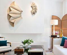 Escultura origami en el ambiente de Beatriz Silveira para Casa Decor