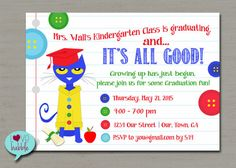 Pete the Cat Graduation Party Back to School Party by lovebabble
