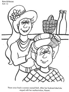 ruth and boaz coloring pages - Google Search | Sunday ...