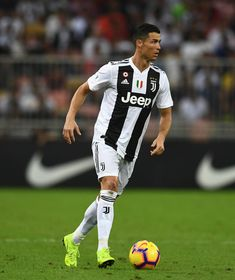 Cristiano Ronaldo of Juventus in action during the Italian Supercup match between Juventus and AC Milan at King Abdullah Sports City on January 16, 2019 in Jeddah, Saudi Arabia. Cr7 Juventus, Ronaldo Photos, Cristiano Ronaldo Wallpapers, Cristano Ronaldo, Most Popular Sports, World Football, Best Player, Football Players, King Abdullah