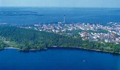 Tampere by the lake Näsijärvi, Finland Finland, New Zealand, Attraction, Scenery, River, City, Places, Nature, Blue