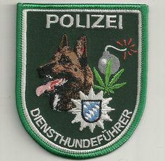 K-9 DienstHundeführer Patch BAYERN  BOMBE & RAUSCHGIFT  Polizei München MALINOIS