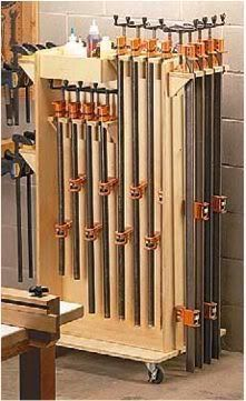 13 Free Clamp Storage Plans: Space Savers, Mobile Clamp Carts, Pipe Clamp Racks and MORE! |